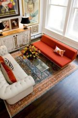 An amazing Turkish carpet used in a modern room