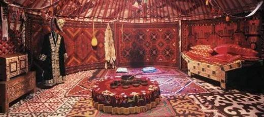Inside a Turkish Yurt Tent