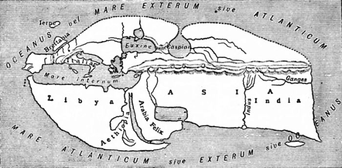 Map of the World According to Strabo