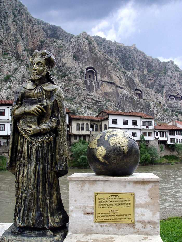 Statue of Strabo in His Birthplace Amasya (Amaseia) in North Turkey Today