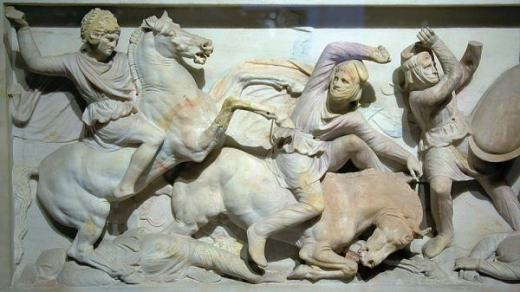 Battle of Issus As It Is Shown On the Alexander the Great Sarcophagus in Istanbul