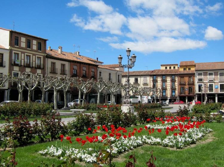 Gardens in the Plaza Mayor