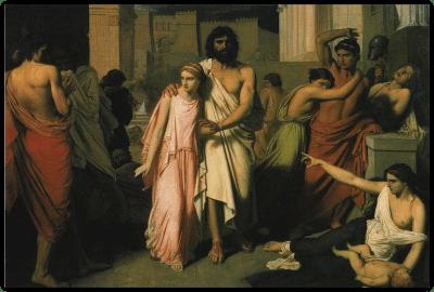 Antigone aidant Œdipe Jalabert