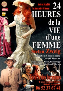 Festival d'Avignon 2014 24 heures de la vie d'une femme  Compagnie Sissia Buggy