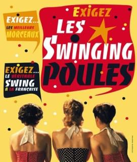les swinging poules Festival d'Avignon 2014 Flannan Obé, Florence Andrieu
