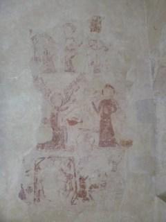 Visiter l'abbaye de L'épau  fresque