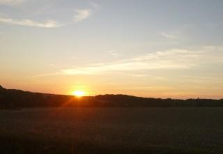 coucher soleil campagne touraine