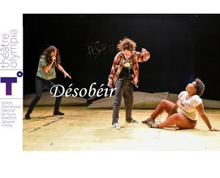 PIÈCE D'ACTUALITÉ 9 DÉSOBÉIR Julie Berès, Kevin Keiss Alice Zeniter  theatre olympia cdnt tours