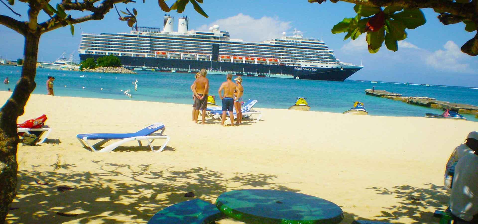 Cruise Ship entering the Ocho Rios Pier