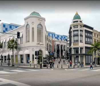 LA Bus Tours Beverly Hills on Rodeo Drive