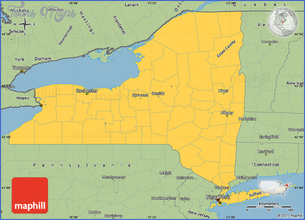 Brooklyn New York Map Simple