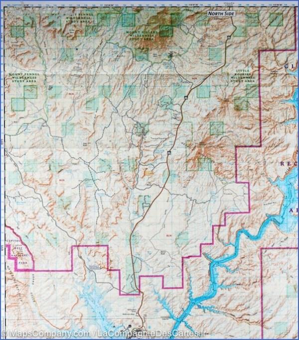 GLEN CANYON NATIONAL RECREATION AREA MAP UTAH - ToursMaps ...