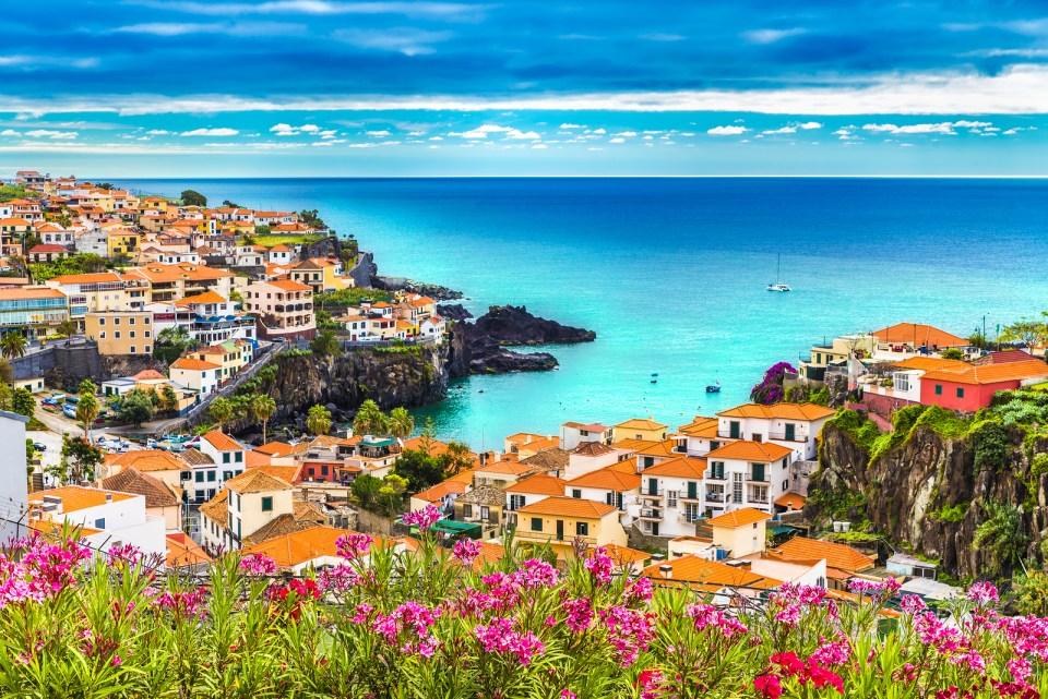 Camara de Lobos Madeira island Portugal beach front hotel covid free