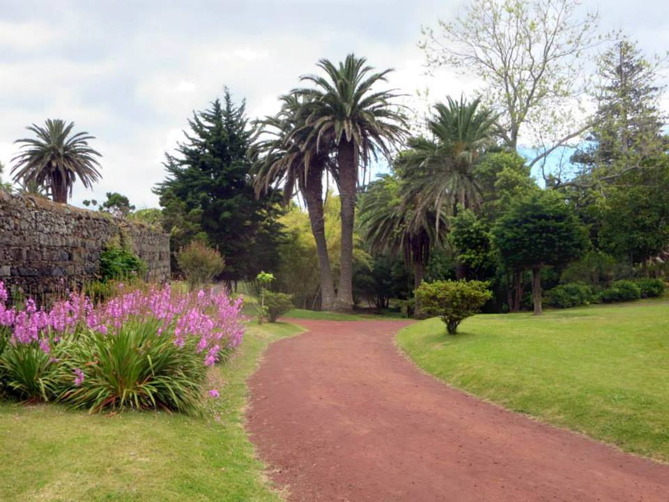 entrance to garden in ponta delgada azores sao miguel island