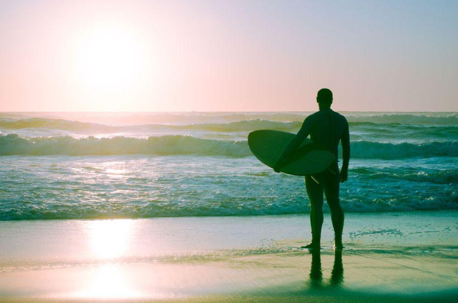 madeira portuguese surf island atlantic ocean sunset surfer