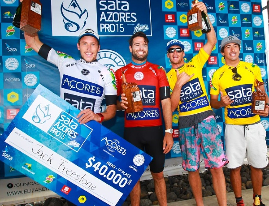 Podium at the Sata Azores Airlines Covid Surf Events