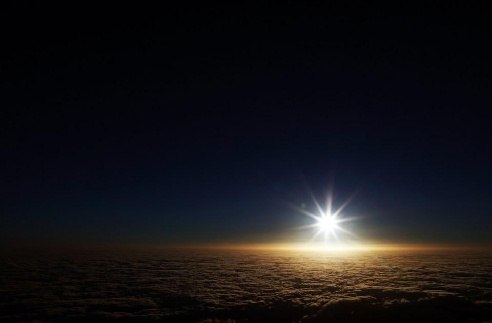 Sunrise over the Atlantic on Nordeste Sao Miguel Azores