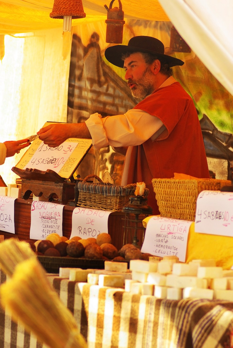 Portuguese and Azores Food Stand at Festival on Sao Miguel Island