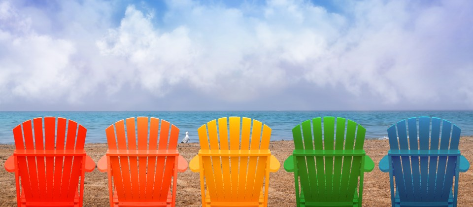 Vacation Beach Chairs On Sand