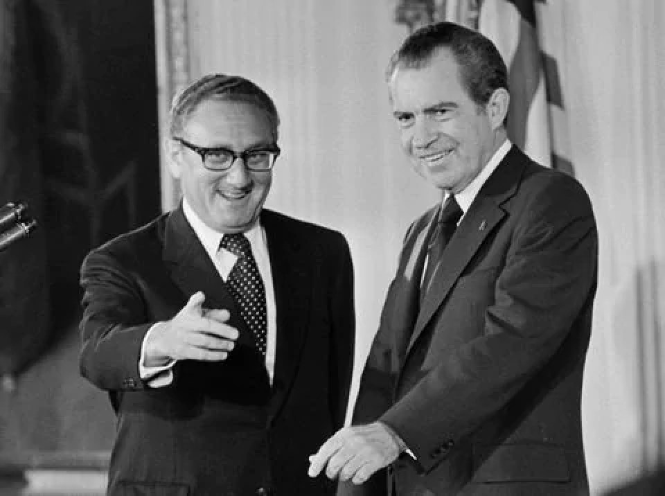 Nixon and Kissinger in the Azores Lajes