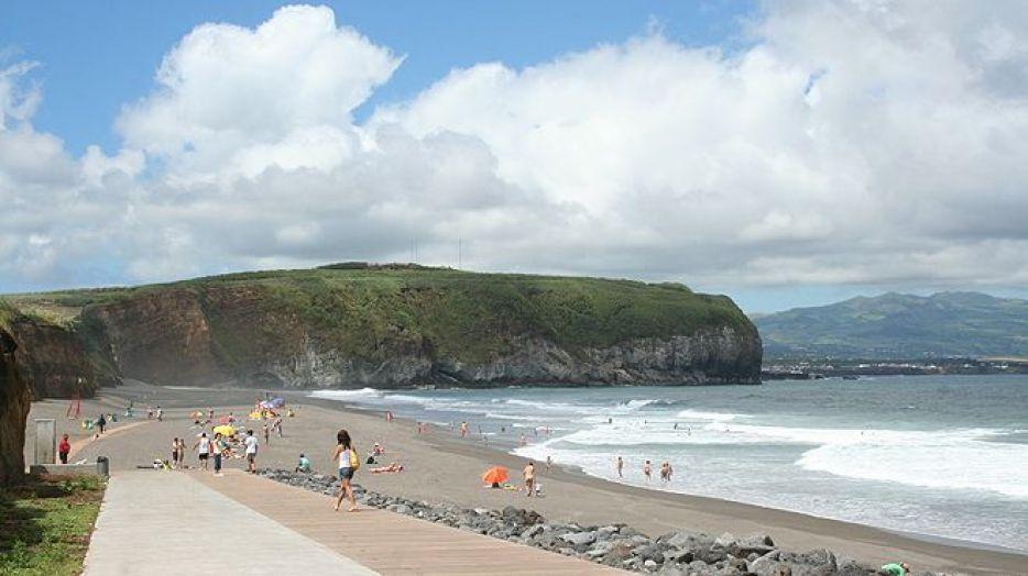 santa barbara beach sao miguel azores summer surf