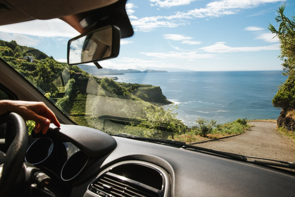 driving on sao miguel azores