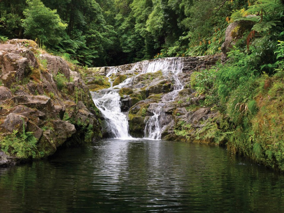 azores waterfall sao miguel island st michaels nature
