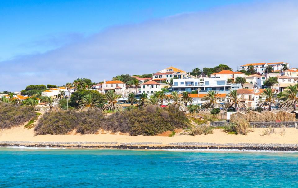 Porto Santo island in the Madeira archipelago beach houses