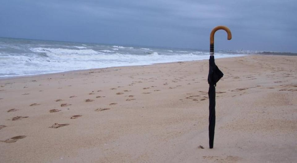 azores surf shop on the beach praia santa barbara ribeira grande umbrella