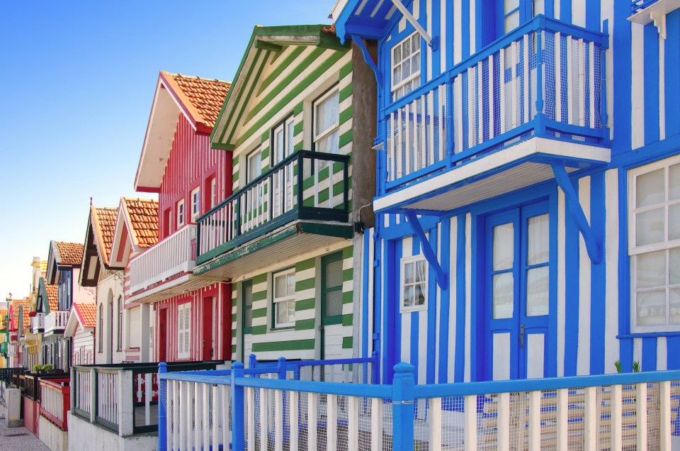 Costa Nova Houses promenade lisbon beach house rentals
