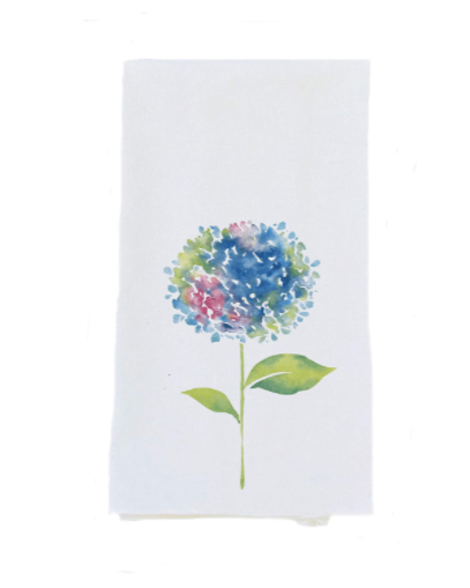 Azores Islands Linen Hydrangea Tea Towel