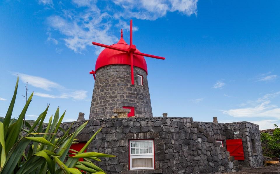 azores windmill graciosa sao miguel