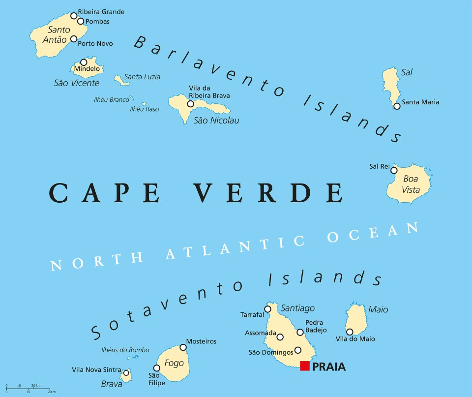 Cabo Verde Macaronesia Islands Azores
