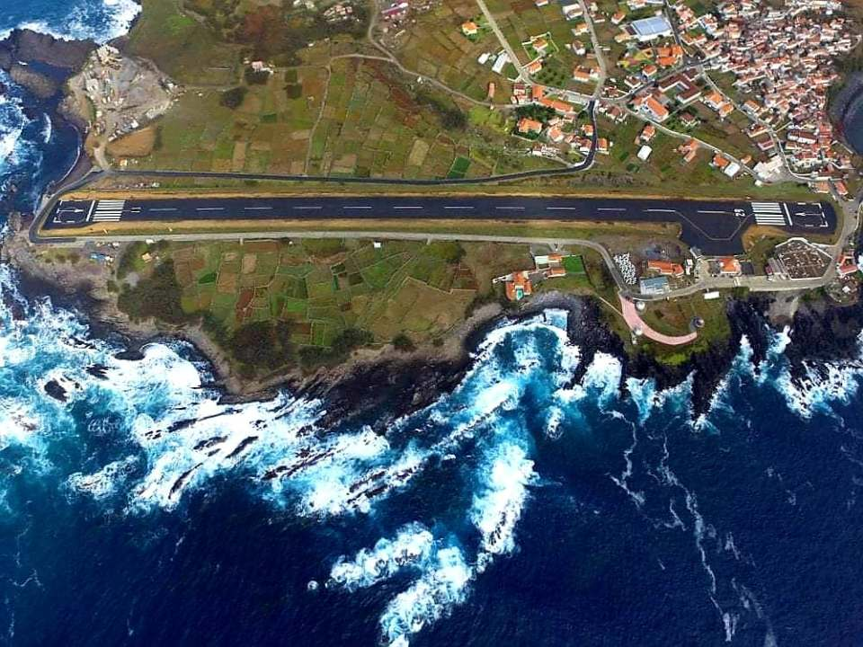 Smallest Airport in Portugal in the Azores Corvo