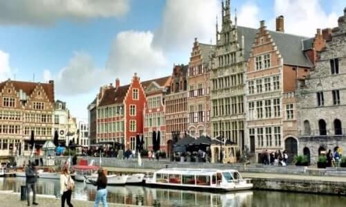 Old houses at Graslei in Ghent are one of the city's must-sees