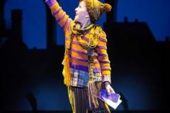 Ryan Umbarila as Charlie Bucket. Roald Dahl's Charlie and the Chocolate Factory. Photo Jeremy Daniel.