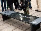 'playing' Chopin's bench along Chopin Trail