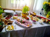 Easter traditional table