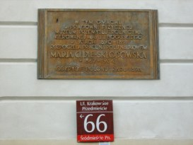 M. Curie memorial plaque on the building she worked in in Warsaw