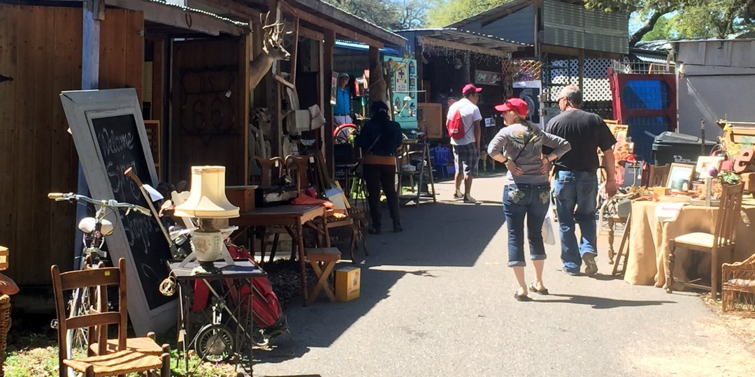 Walk through the shady booths at Wimberley Market Days