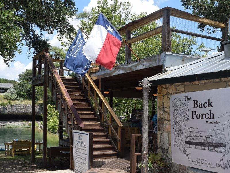 The Back Porch Cypress Creek Restaurant in Wimberley