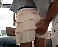 【痴漢盗撮動画】この人痴漢です…たった一言言えないだけでモデル体型女子がバス内で手マンされた姿を隠し撮りww