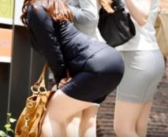 【OL街撮り盗撮画像】目で追ってしまうヒップラインがエロいタイトスカート素人を街で隠し撮りww