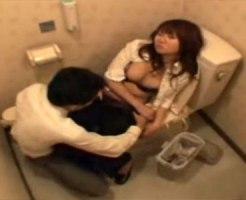 【レイプ盗撮動画】泥酔して記憶飛ぶ寸前のOLをトイレで強姦する同僚が更に隠しカメラで撮影…