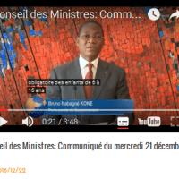 CONCOURS CAFOP SESSION 2017/Conseil des Ministres: Communiqué du mercredi 21 décembre 2016.