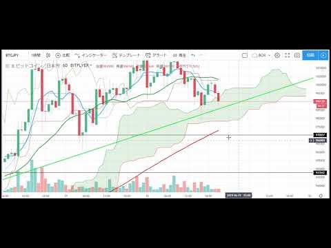 【仮想通貨 ビットコイン(BTC)】100万超えてからの調整の下落。チャート分析6.18