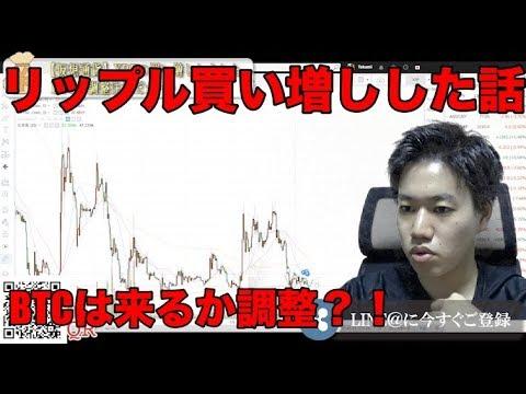 リップル買い増ししました。ビットコインは調整の可能性?仮想通貨チャート分析