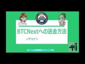 BTCNextへのノアコイン送金方法 LedgerNanoS編