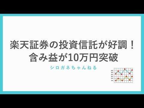 楽天証券の投資信託が好調!含み益が10万円を突破しました。