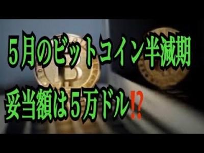 【仮想通貨】リップル最新情報❗️5月のビットコイン半減期妥当額は5万ドル⁉️